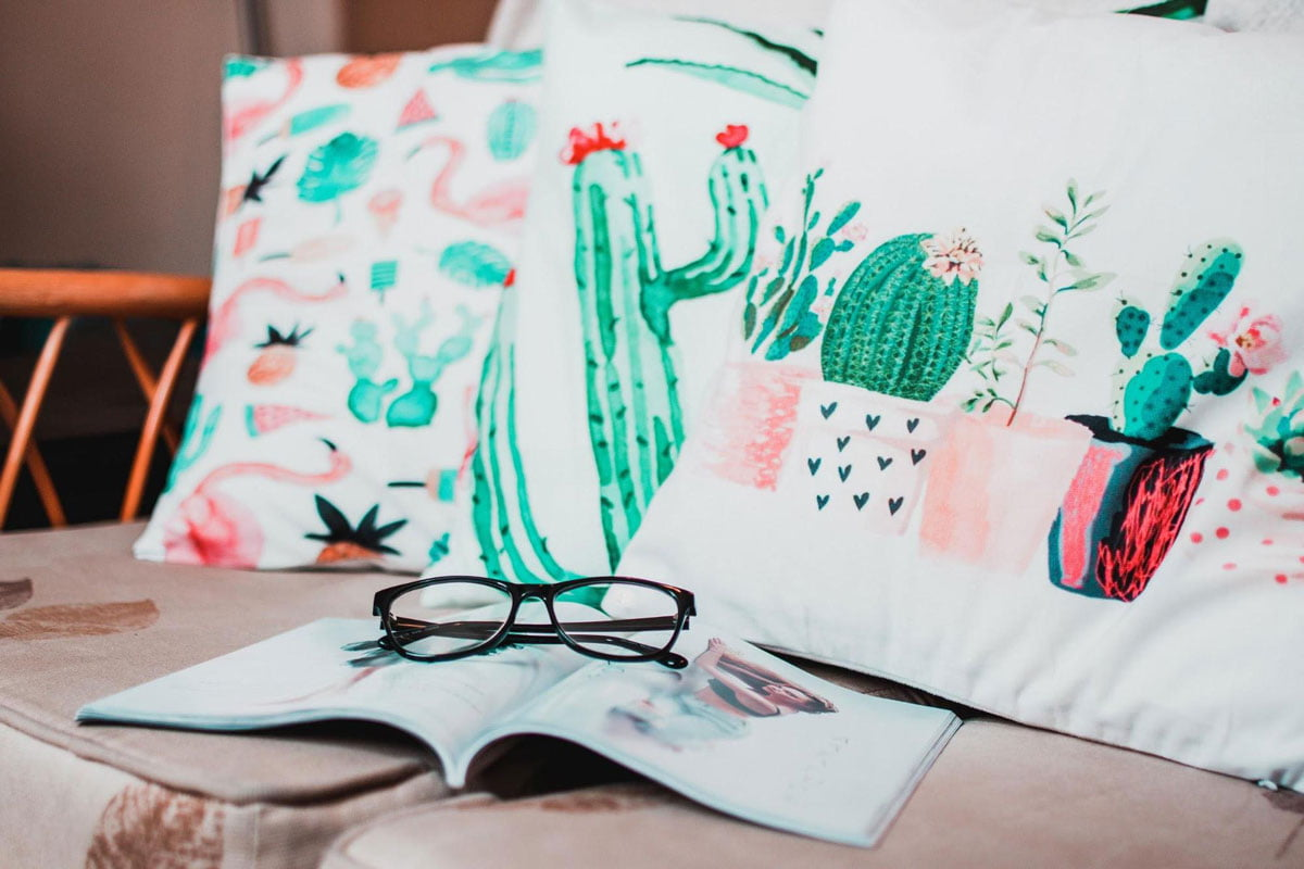 Cushions lifestyle photograph