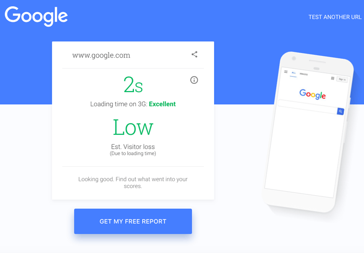 Google's Mobile Speed Test