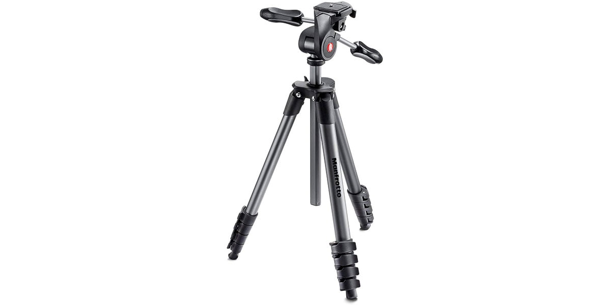 Manfrotto Compact Advanced Aluminium Tripod with 3 Way Head