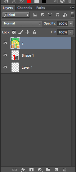 Rearranging layers in Photoshop