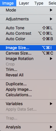Changing image size in Photoshop