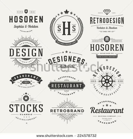 Monochrome logos from Shutterstock