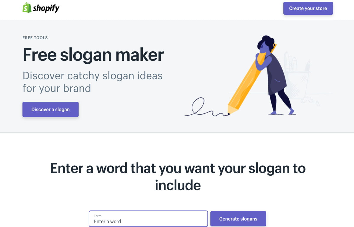 Shopify's Free slogan maker
