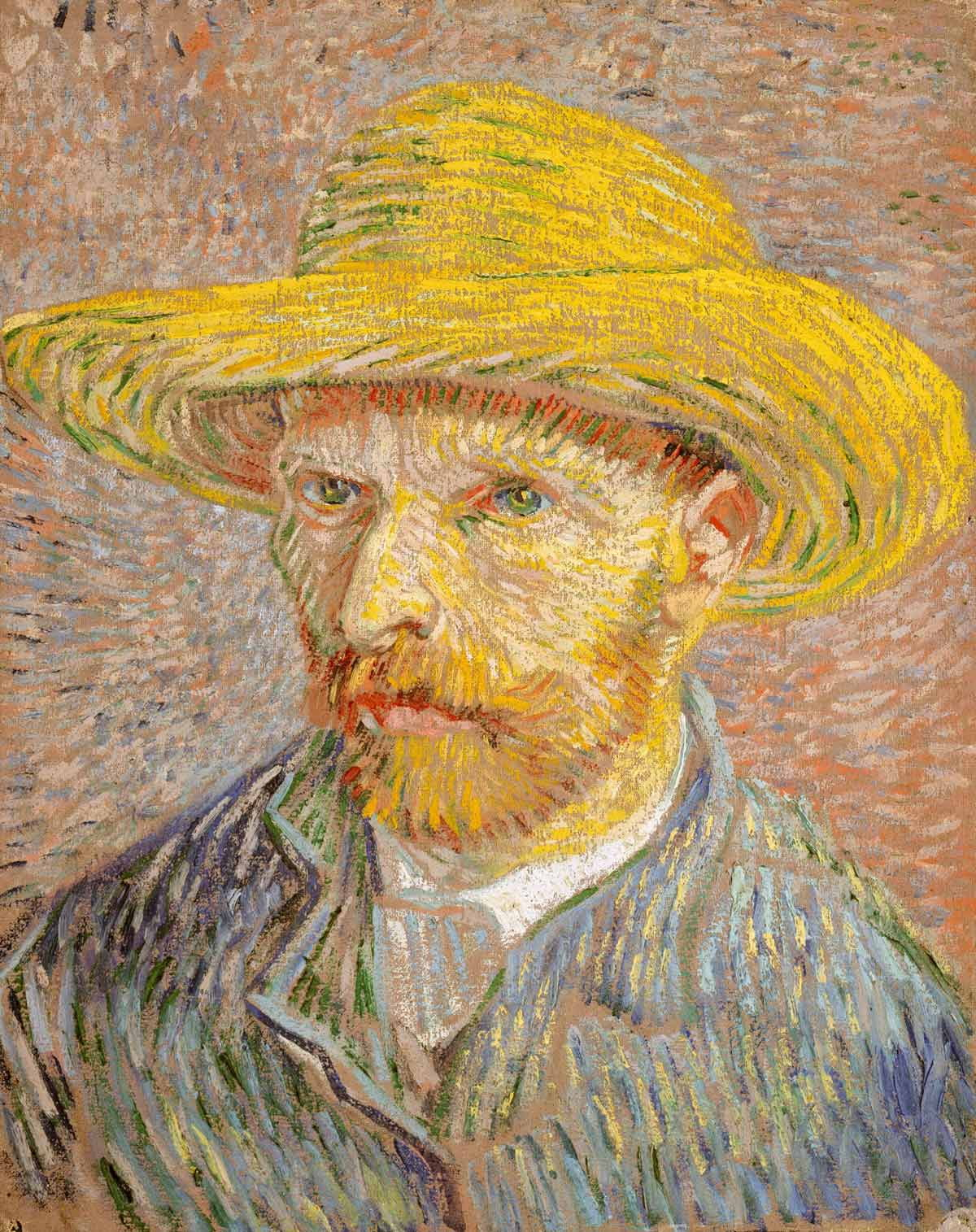Vincent Van Gough's Self-Portrait with a Straw Hat