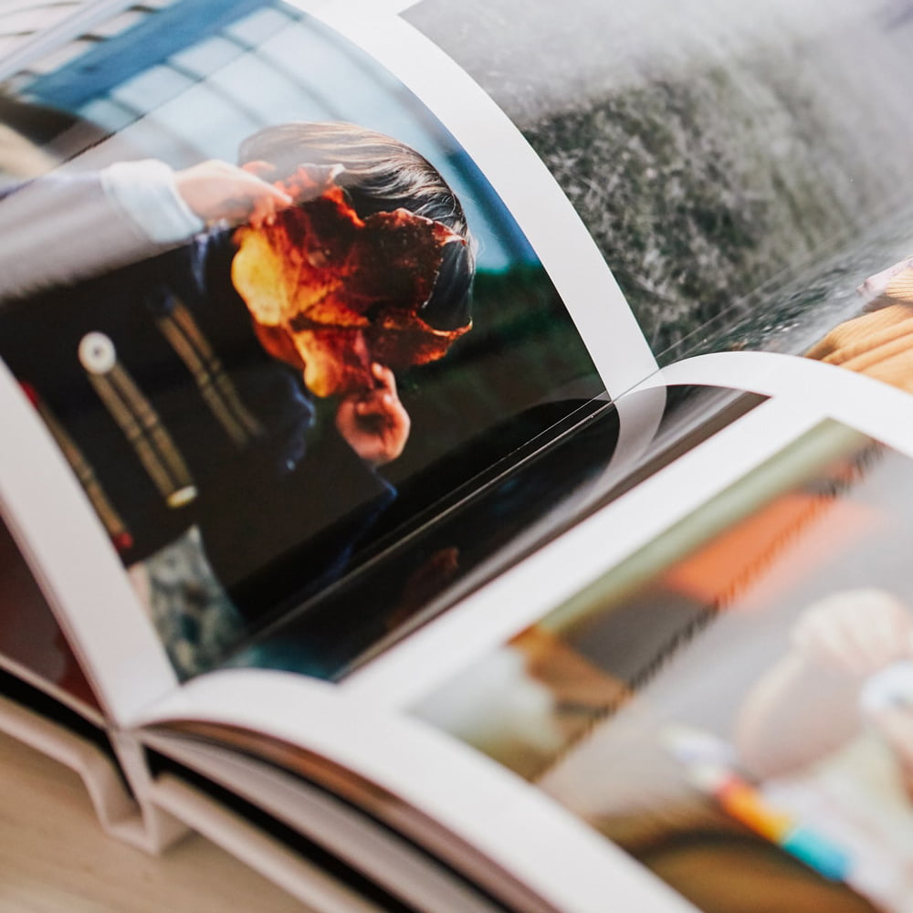 Hardcover photo book inside print