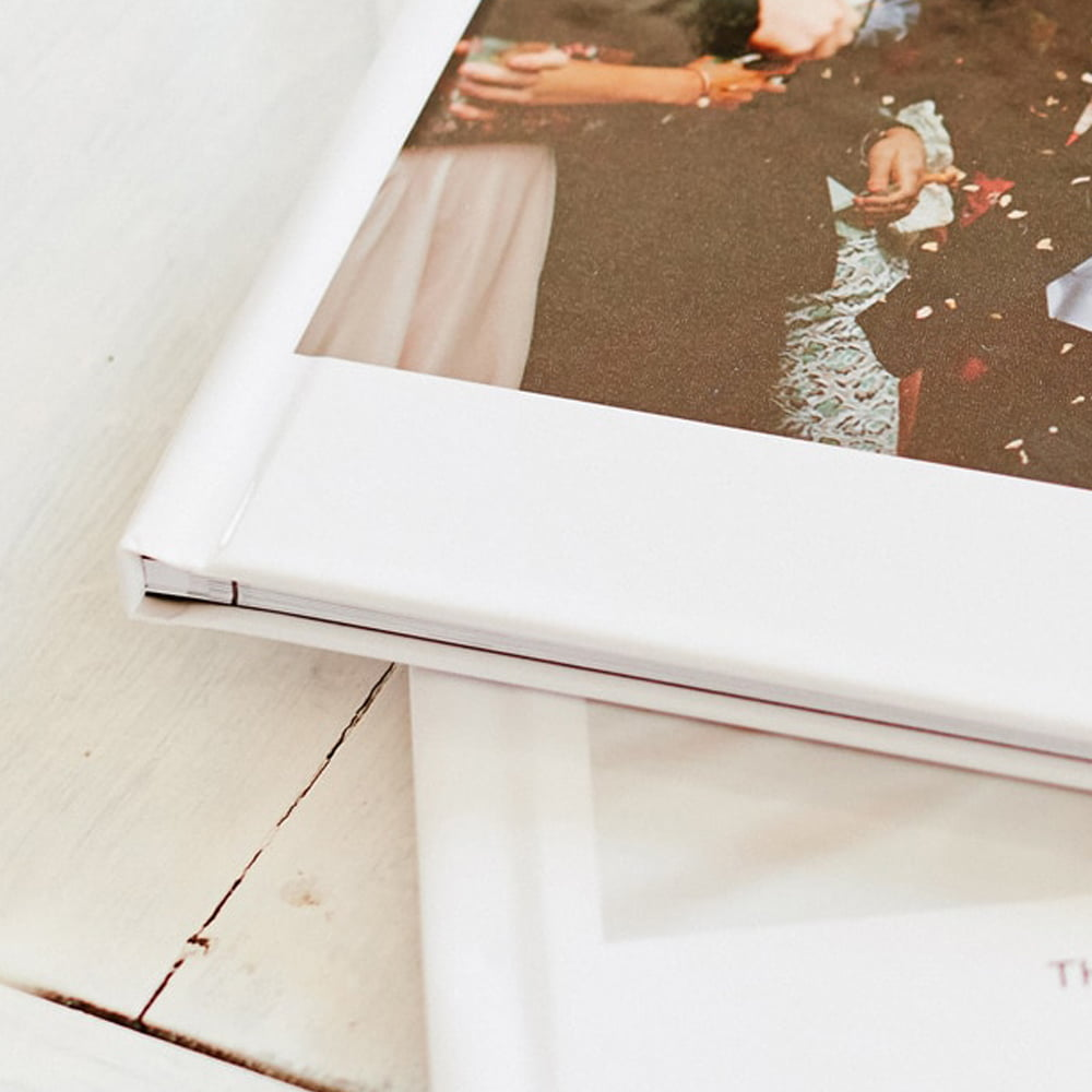 Hardcover photo book spine
