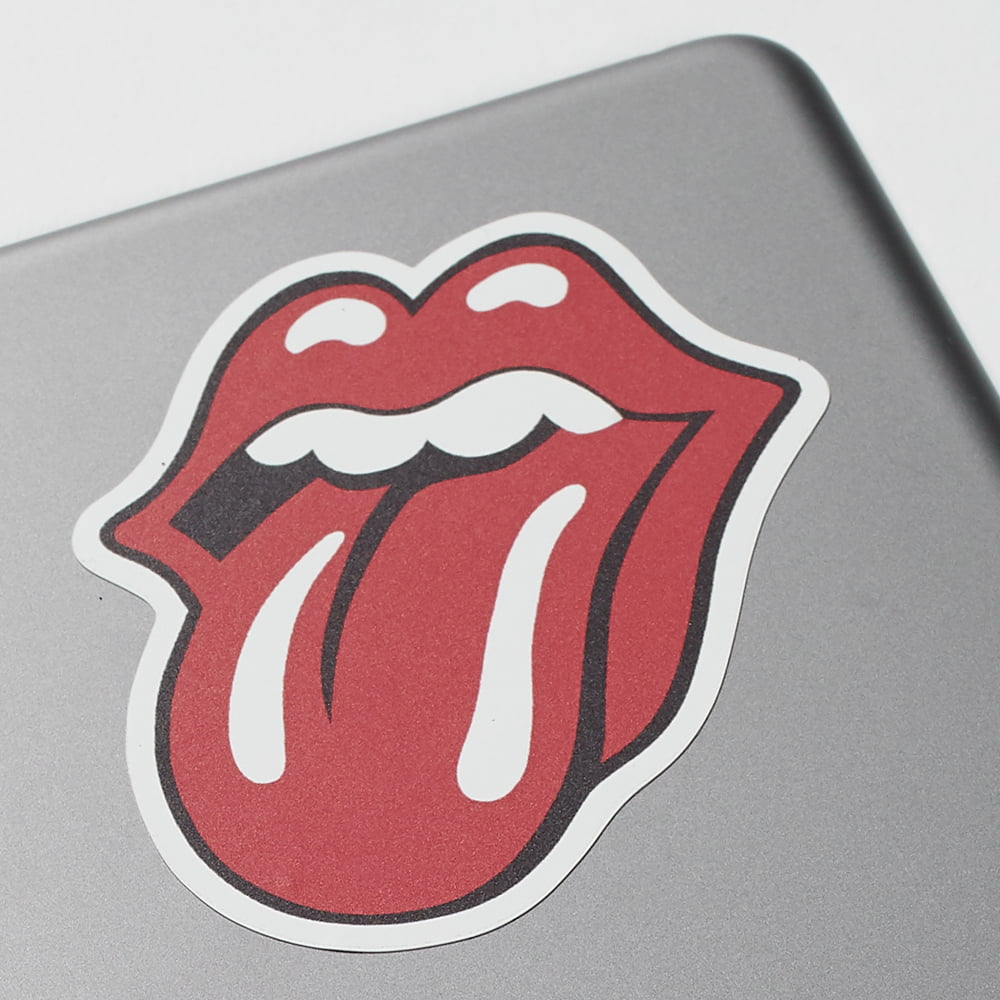 Kiss cut stickers on laptop