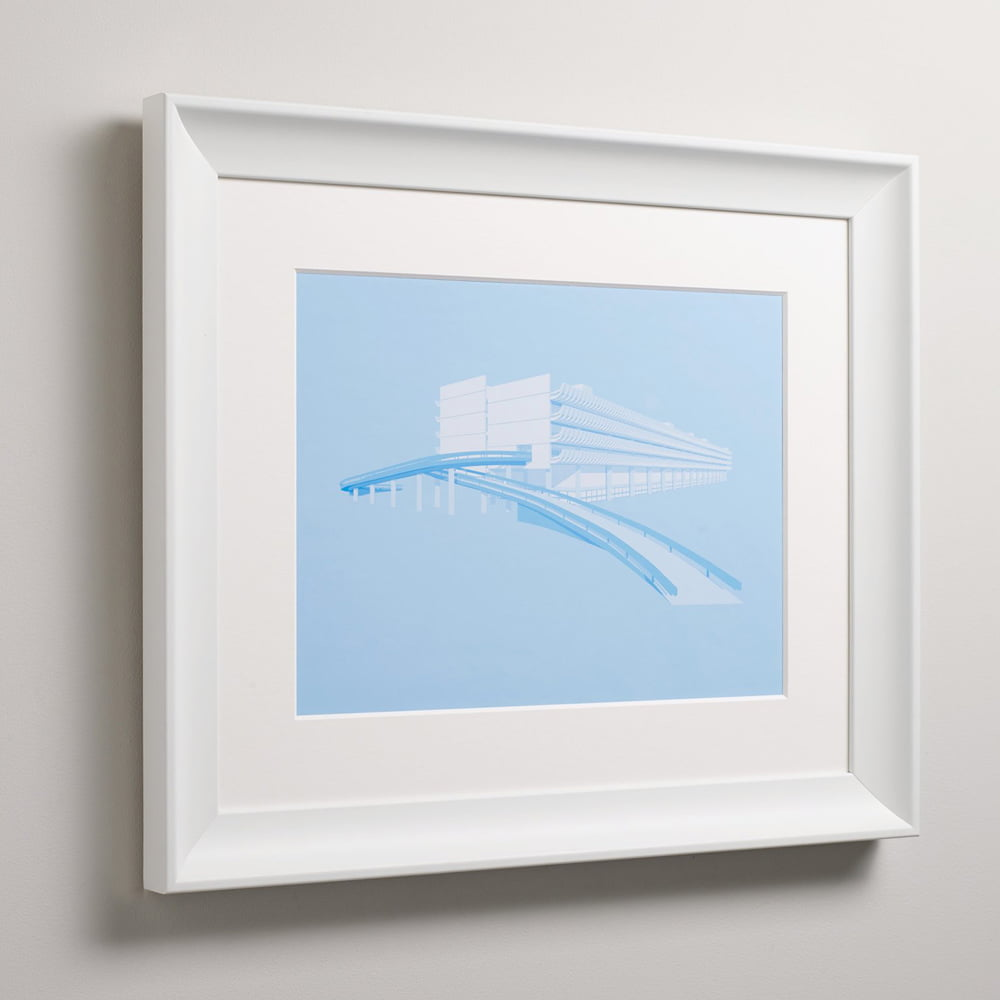 Swoop white frame on wall