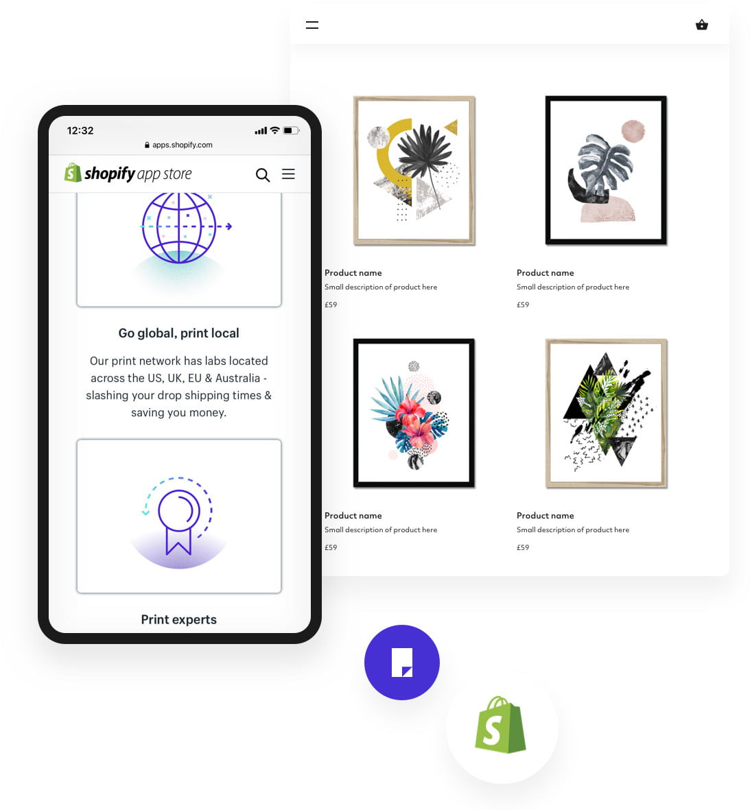 Shopify app with same artwork images